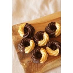 Espirales con chocolate